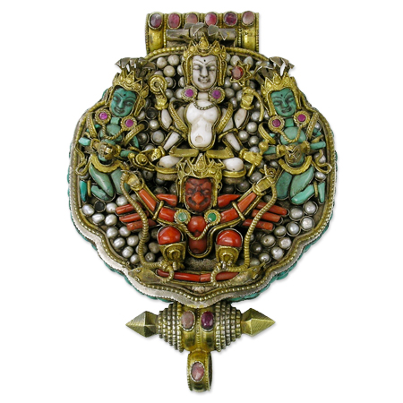 preciosa joya tibetano ga'u u gau budista