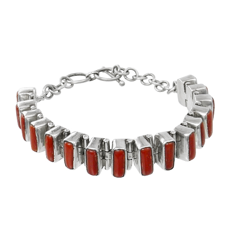 jewelry in silver and coral